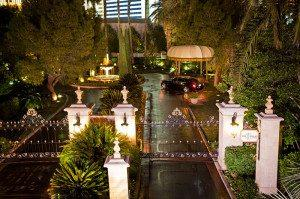 Arrive in a limousine to your private, gated entrance.